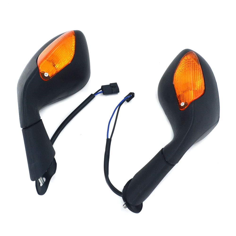 JFG RACING lato posteriore del motociclo specchi LED indicatori di direzione Aprilia Rsv mille/R 1000 2004 –  2009 sport bici