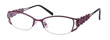 edaa37308e Edge I-Wear Women s Semi Rimless Readers Hollow Flower Design Reading  Glasses For Women 1.75