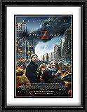world war z movie poster - World War Z 28x36 Double Matted Large Large Black Ornate Framed Movie Poster Art Print