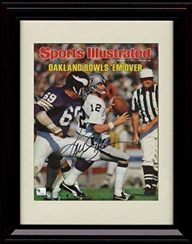 Framed Ken Stabler Sports Illustrated Autograph Replica Print - The Snake!