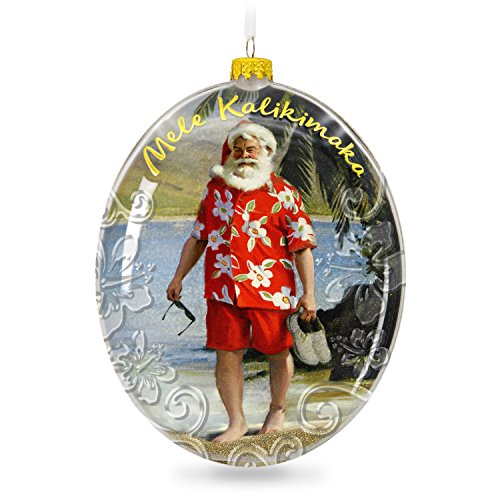 amazoncom hallmark keepsake 2017 mele kalikimaka hawaii santa on the beach christmas ornament home kitchen