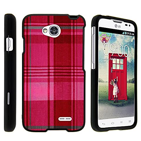 LG Optimus L70 Case, LG Ultimate 2 Case, Stylish Snug Fitted Hard Protector Cover Snap On Case with Customized Design for LG Optimus L70 MS323, LG Optimus Exceed 2 VS450PP, LG Realm LS620, LG Ultimate 2 L41C (Metro PCS, Verizon, Boost Mobile) from MINITURTLE | Includes Clear Screen Protector and Stylus Pen - Plaid Pink (Cover De Lg 70)