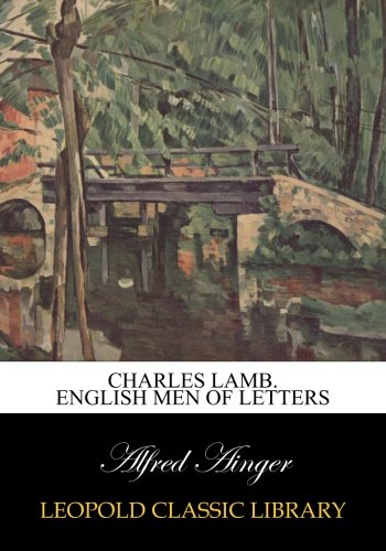 Read Online Charles Lamb. English Men of Letters PDF