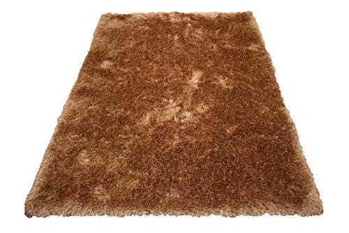 - Harmony Shaggy Shag Modern Contemporary Solid Flokati Fuzzy Furry Hand-Woven Hand Made Decorative Machine-Made 8-Feet-by-10-Feet Polyester Made Area Rug Carpet Rug Rust Color