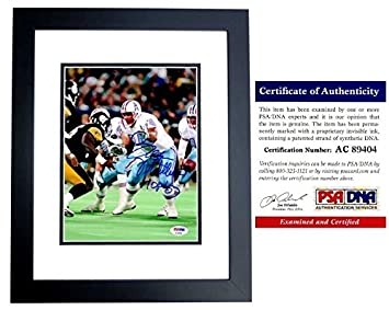 67508234b Bruce Matthews Autographed Signed Houston Oilers 8x10 Photo Black Custom  Frame - PSA/DNA Authentic