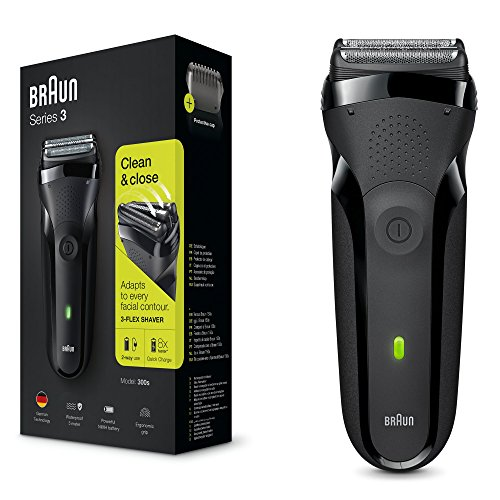 Price comparison product image Braun Series3 300s Men Electric Clean Shaver Rechargeable Waterproof Razor Black
