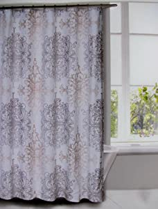 Amazoncom Shower Curtain Fabric Tahari Home Large Medallion