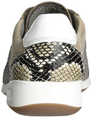 Beige Rom Donna Alto Ara weiss Taupe Sneaker a Collo Fwqgv1