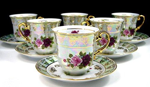 Porcelain 12 Piece Tea Set - 2