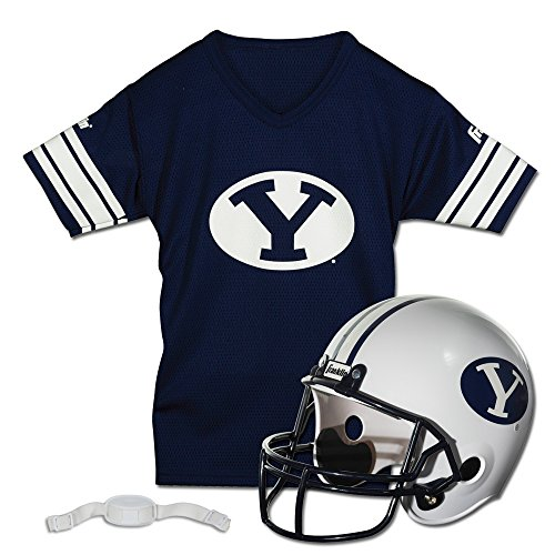 Franklin Sports NCAA Brigham Young Cougars Helmet and Jersey Set