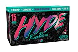 ProSupps HYDE POWER POTION Energy Drink, 350 mg Caffeine, Zero Sugar, Zero Carbs, Carbonated 16 oz, 15count Box, Exclusive DJ Khaled VIBES Flavor