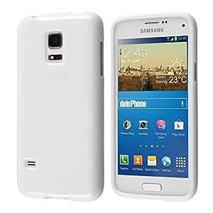 deinPhone Samsung Galaxy S5Mini Carcasa de silicona Case Blanco