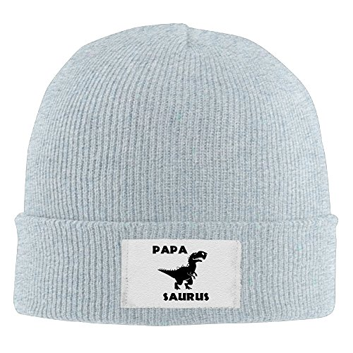 Knit Hat Papa Dinosaur Adult Toboggan Winter Hats Warm