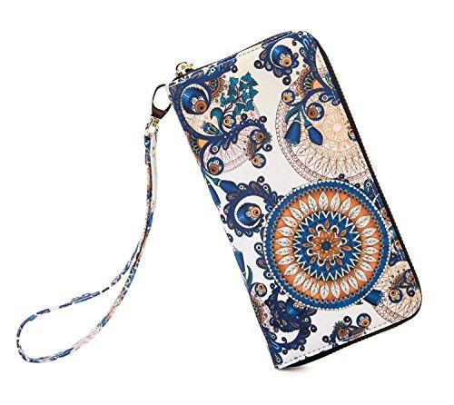 LOVESHE Women wallet Inner leaf Bohemian wristlet Clutch wallets