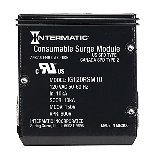 Electric Whole House (Intermatic IModule IG120RSM10K Replacement Module for Smart Guard Whole Home Surge Protector)
