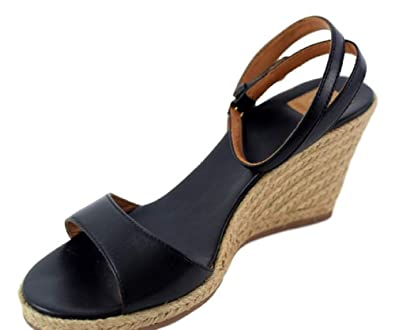 fe6daf149 Amazon.com  Tory Burch 40022 Landon Wedge Espadrille Ankle Strap Sandal  -Black
