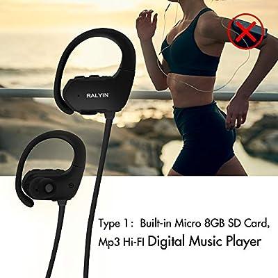 Ralyin MP3 Music Player Sport Wireless Headphones Built in 8gb Memory,Best Sound