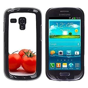 Paccase / SLIM PC / Aliminium Casa Carcasa Funda Case Cover - Three tomato - Samsung Galaxy S3 MINI NOT REGULAR! I8190 I8190N