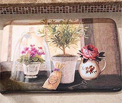 alfombras el Inodoro de la ba/ñera Esponja Mendes Alfombras 4 Habitaciones con Memoria Antideslizante Alfombra de ba/ño WEILIVE Suave shag Alfombras Cuartos de ba/ño
