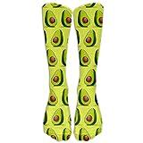 Avocado Spandex Athletic Compression Knee Socks Elasticity Gym For Men &...