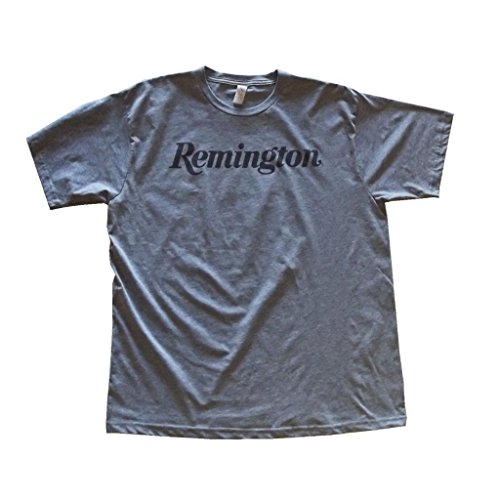 Remington Men's Script Logo Short Sleeve T-Shirt Large Athletic Grey