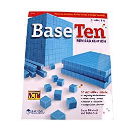 ETA hand2mind Yellow Plastic Base Ten Blocks Starter Set