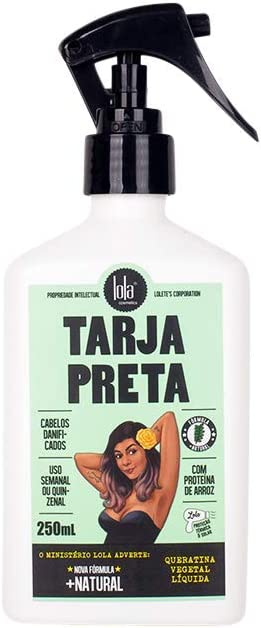 LOLA COSMETICS TARJA PRETA - QUERATINA Vegetal - Spray 250ML, Único, Estándar