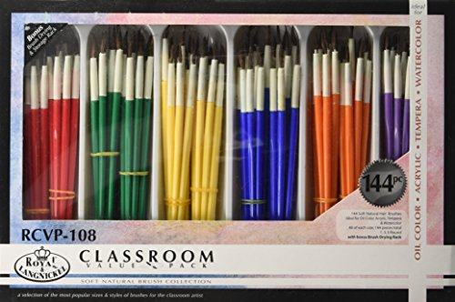 Royal RCVP 108 Classroom Brushes Assorted product image