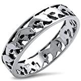 Plain Dolphin Band .925 Sterling Silver Ring Size 10