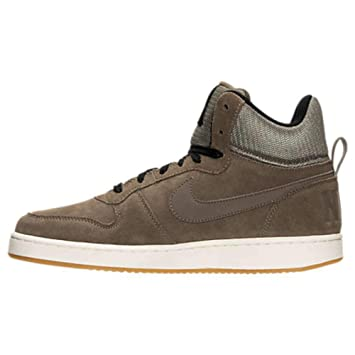 quality design 16f1b 63abf Nike Court Borough Mid Premium Baskets Homme, Marron/Noir: Amazon.fr ...
