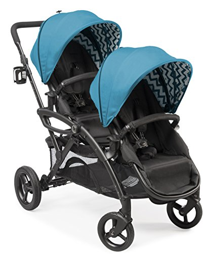 Contours Options Elite Tandem Double Toddler & Baby Stroller, Multiple Seating Configurations, Reclining Seats, Lightweight Frame, Car Seat Compatibility, Large Storage Basket, Carbon Gray