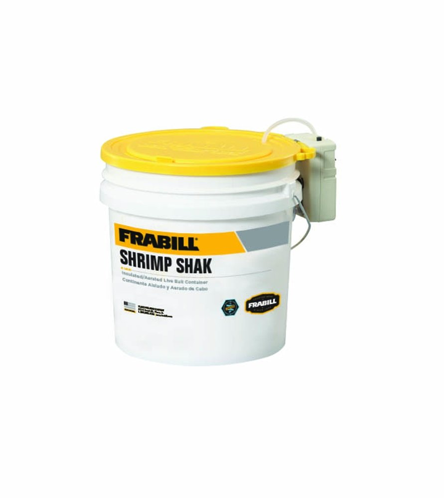 Frabill Shrimp Shak Bait Bucket with Aerator, 4.25 gal