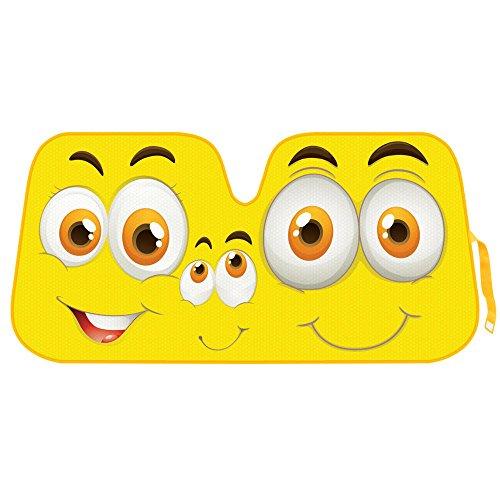 yellow car sun shades - 1