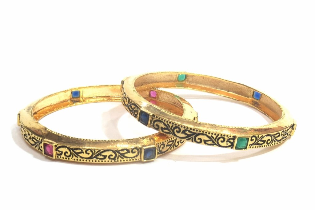 Jewelshingar Jewellery Fine Micro Plated Bangles For Girls ( 32552-m-2.6 )
