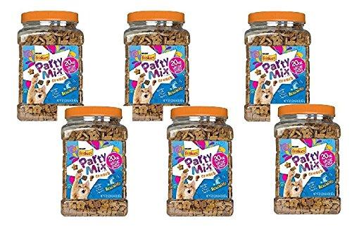 Purina Friskies Party Mix Crunch Beachside Cat Treats, 20 oz with Shrimp, Crab & Tuna Flavors (6pck) by Friskies