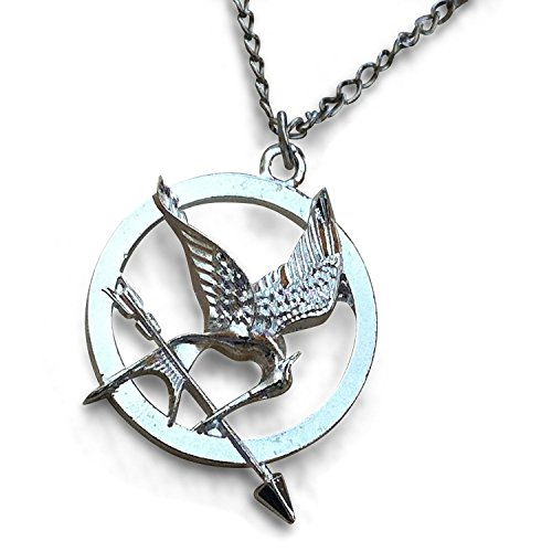 HG Silver Tone Katniss Mocking Bird Pendant (Hunger Games Outfits)