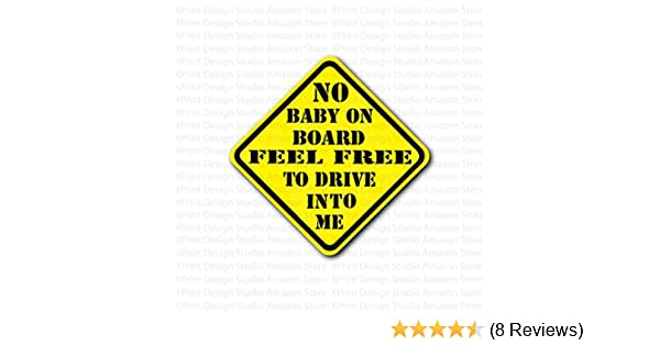 YELLOW LOGO Auto Black METAL License Plate Frame Caution Baby On Board