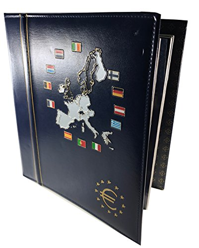 1999-2002 Complete Euro Coin Collection in Deluxe Light House Album, 96 Coin, Mixed Dates, - Euro Complete Coin