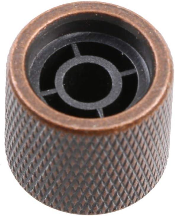 LYWS 4PCS Electric Guitar Bass Metal 6mm Shaft Dome Volume Tone Control Knobs abalone shell inlay Bronze