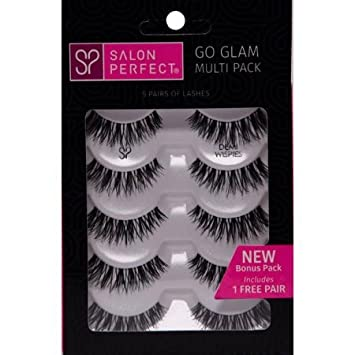 cad97d9d370 Amazon.com : Salon Perfect Perfectly Glamorous Multi Pack Eyelashes, Demi  Wispies Black, 5 Pairs : Beauty