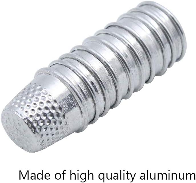 LumenTY 20 Unidades de Aluminio Vintage Coser Fingerh/üte artesan/ía Fingerschutz con 1st/ück un pl/ástico Aguja Einf/ädler para Coser Basteln DIY N/ähwerkzeuge Artesanos Plata