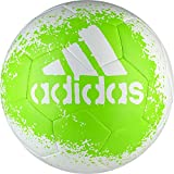 adidas Performance X Glider II Soccer Ball, White/Solar Green/Black, Size 5
