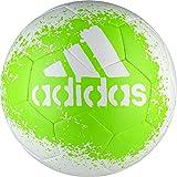 adidas Performance X Glider II Soccer Ball, White/Solar Green/Black, Size 4