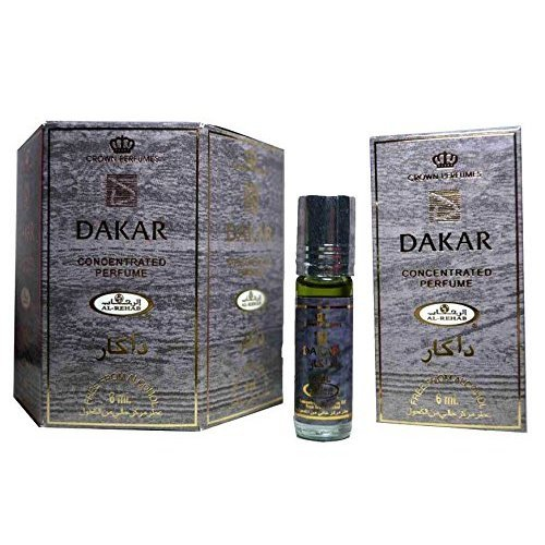 Authentiquenhuile profumo Dakar da Al Rehab 6x6 ml, senza liquore, Halal