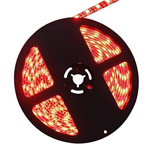 Lighten Glimmer Black PCB LED Strip DC12V Red Color SMD 5050 300 LEDs IP65 Waterproof LED Ribbon Rope Tape