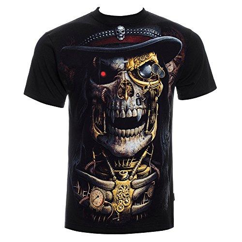 Spiral Direct Unisex-T-Shirt Steampunk Sensenmann Gothic/Totenkopf alle Größen