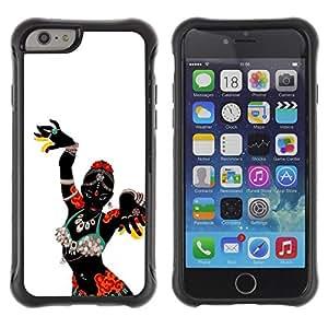Suave TPU GEL Carcasa Funda Silicona Blando Estuche Caso de protección (para) Apple Iphone 6 / CECELL Phone case / / African Woman Native Tribal Dancer /
