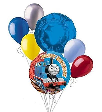 Amazon.com: 7 pc Thomas el Tren feliz cumpleaños ramo de ...