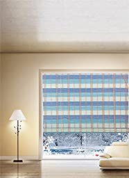 Natural Bamboo Roll Up Window Blind Roman Sun Shade WB-BCT003 (W48\