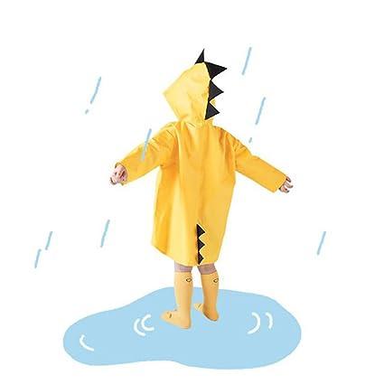 Chubasquero para niños, Ropa de lluvia ligera con forma de dinosaurio, Chaqueta impermeable con